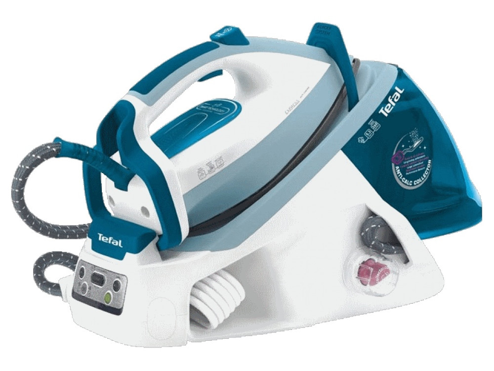 Парогенератор Tefal GV 7781E0 Express Control Plus,2200Вт,6,3 бар,п/п 120г/мин,п/у 280г,эко-функция