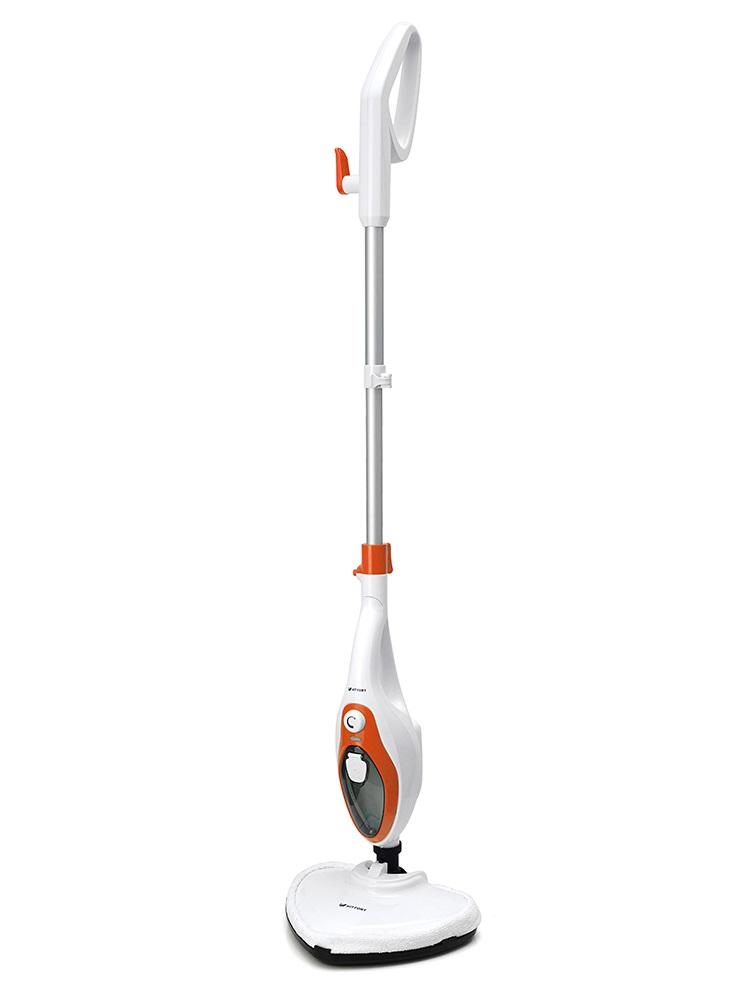 Паровая швабра KITFORT KT-1004-3, 1500Вт, оранжевый/белый sinbo швабра паровая sinbo ssc 6409 1500вт