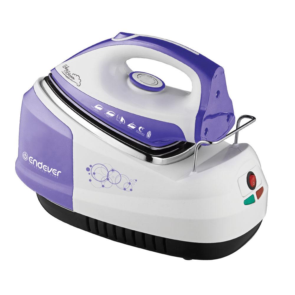 Парогенератор Endever Skysteam-734, белый/фиолетовый утюг endever skysteam 734 белый фиолетовый