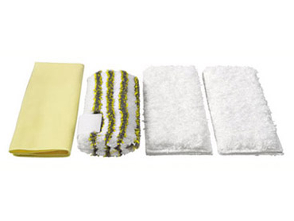 Аксессуар для пароочистителей Karcher, набор салфеток для ванной 4 шт irobot набор одноразовых салфеток для влажной уборки braava jet 10 шт