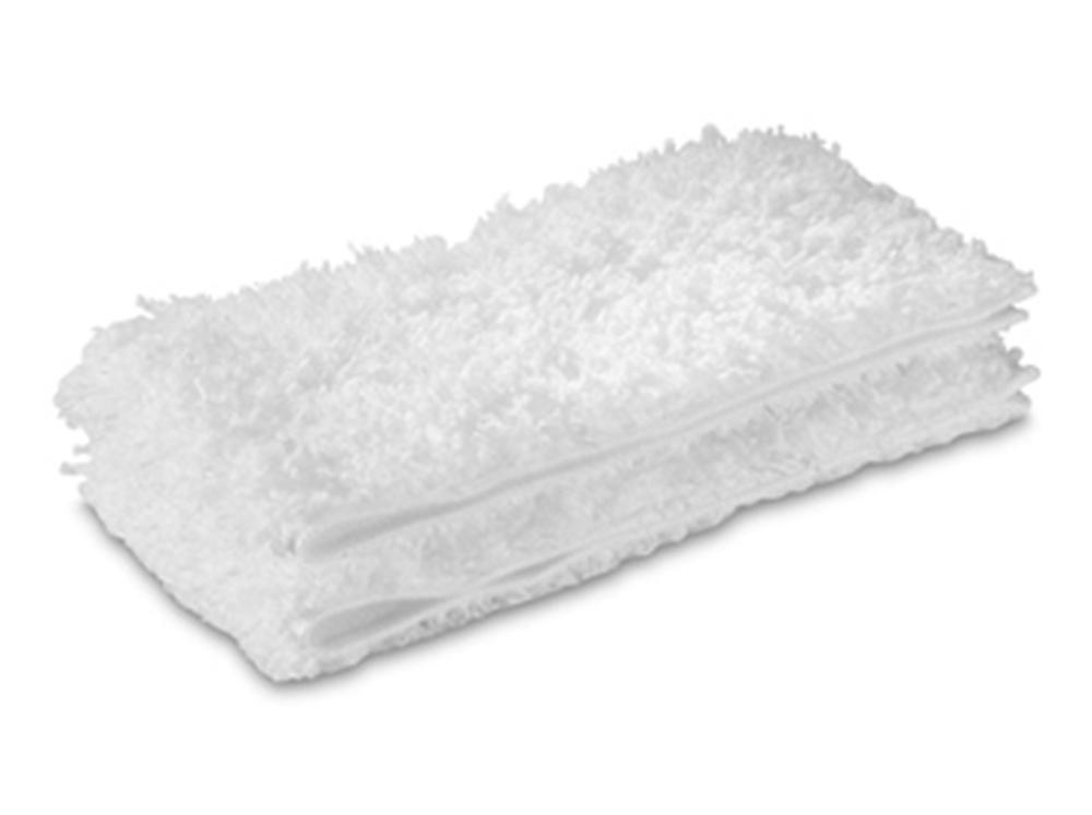 Аксессуар для пароочистителей Karcher, набор салфеток из микрофибры к насадке для пола Comfort Plus. Для твердых напольных покрытий.
