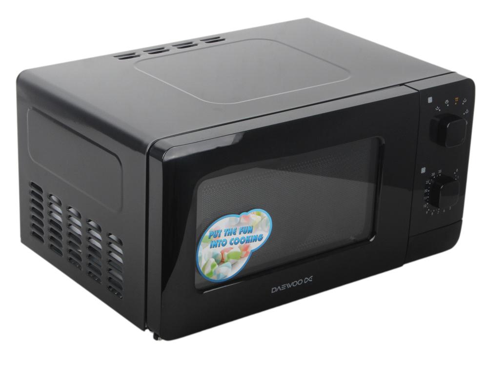 Микроволновая печь DAEWOO KOR-5A07B мощность 500Вт, объем 15л, внутреннее покрытие- эмаль, блокировка от детей, цвет- черный