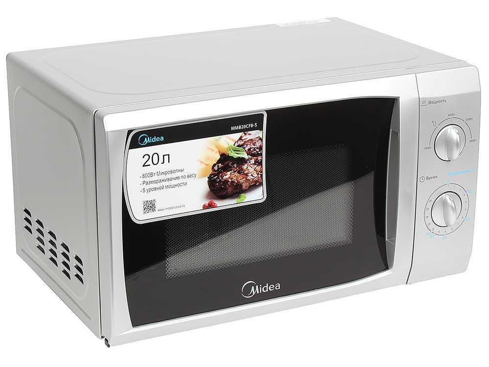 Микроволновая печь MIDEA MM820CFB-S микроволновая печь midea eg823aee белый