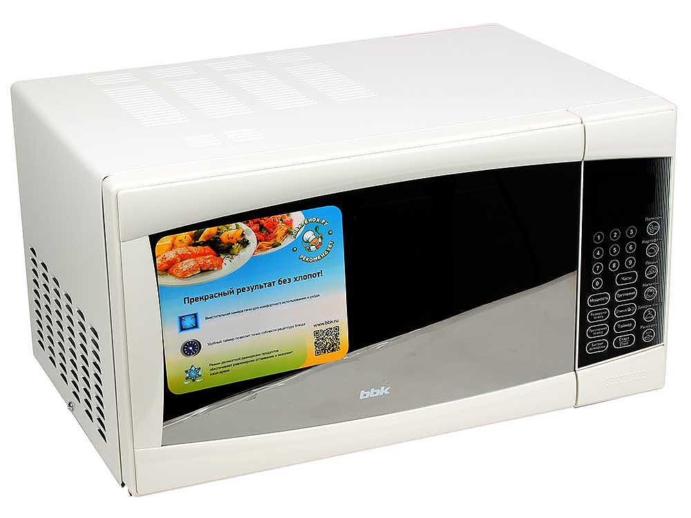 Микроволновая печь BBK 23MWS-915S/W микроволновая печь bbk 23mws 927m w 900 вт белый