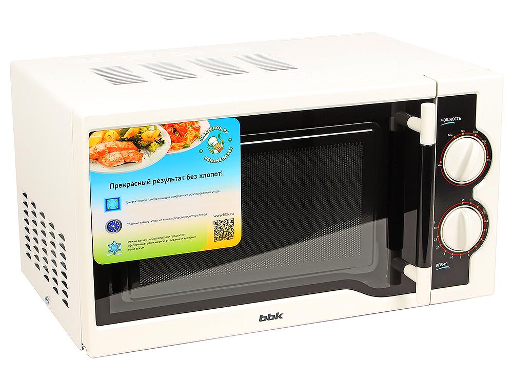 Микроволновая печь BBK 20MWS-712M/WB bbk 20mws 712m wb белый черный