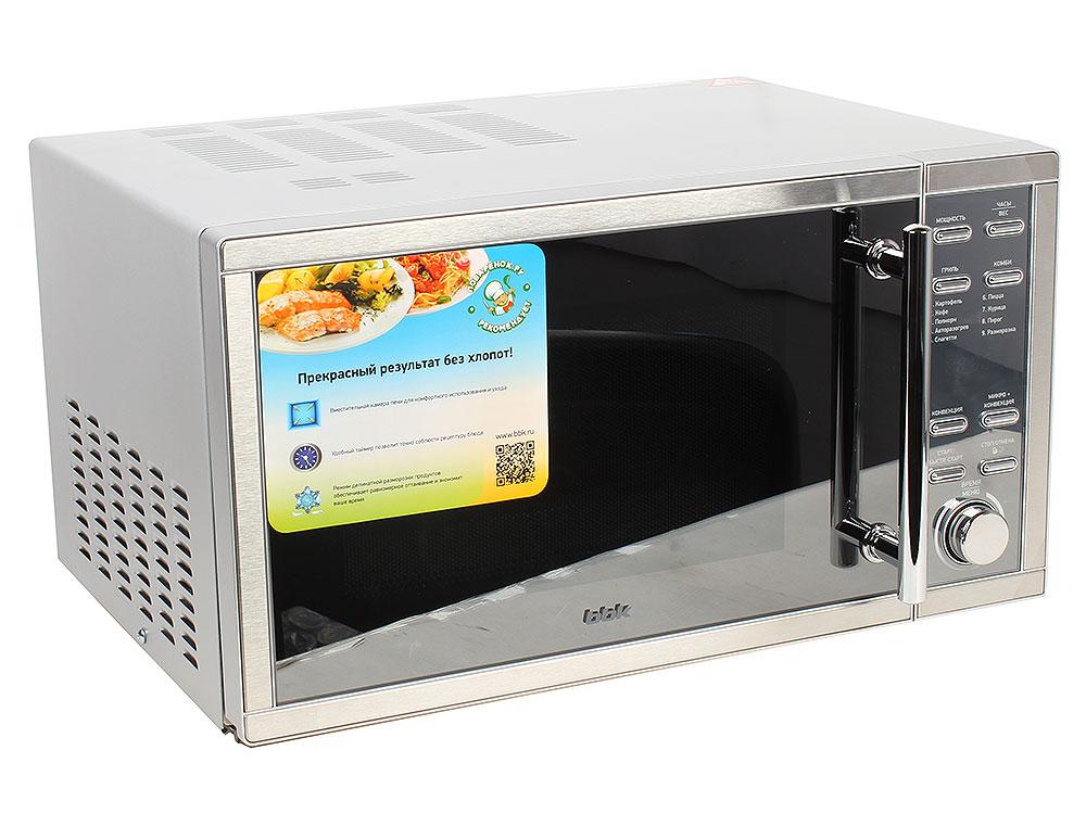 Микроволновая печь BBK 25MWC-990T/S-M микроволновая печь bbk 23mws 927m w 900 вт белый