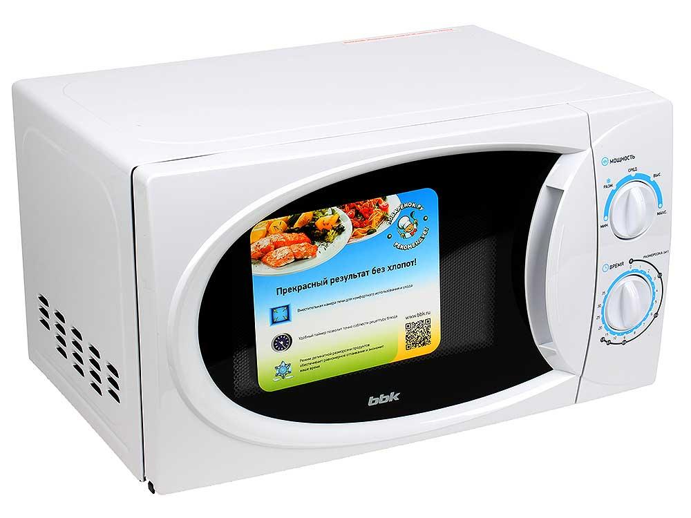 Микроволновая печь BBK 20MWS-710M/W, соло, 20л, мех. управ, 700Вт, белый