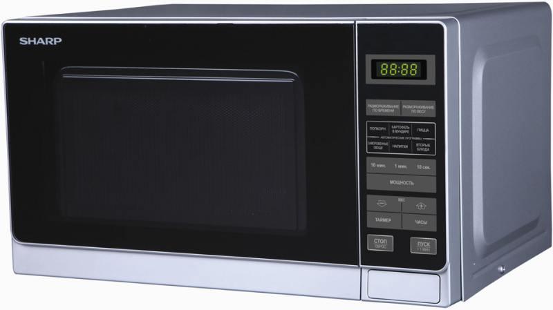 Микроволновая печь Sharp R-2772RSL 800 Вт серебристый