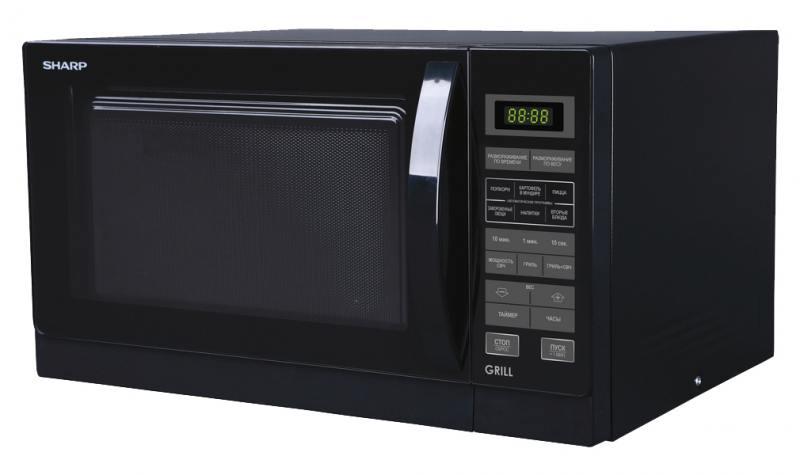Микроволновая печь Sharp R7773RK 25л гриль 900Вт черный sharp r 2772rsl