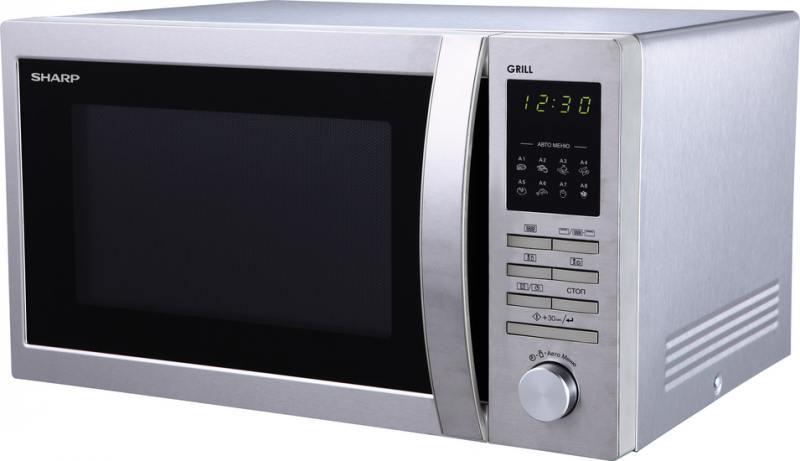 Микроволновая печь Sharp R7496ST 25л гриль 900Вт серебристый sharp sjxp59pgsl
