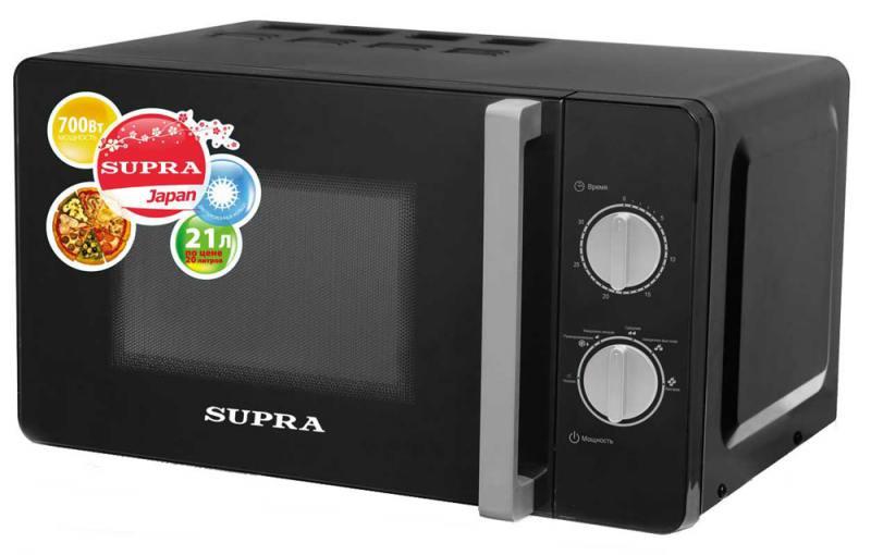 Микроволновая печь Supra MWS-2103MB 700 Вт чёрный бритва supra rs 204 чёрный
