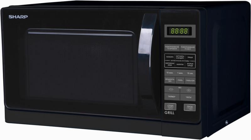Микроволновая печь Sharp R6672RK 800 Вт чёрный