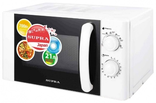 Микроволновая печь Supra MWS-2107MW 21л 700Вт белый supra микроволновая печь mws 2103ms 700 вт 21л