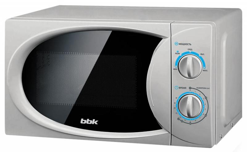 Микроволновая печь BBK 20MWS-714M/S, соло, 20л, мех. управ, 700Вт, серебристый