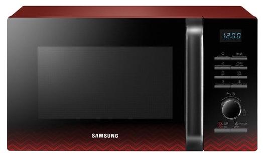 Микроволновая печь Samsung MG23H3115PR/BW чёрный/красный, 800 Вт, 23л [MG23H3115PR/BW]