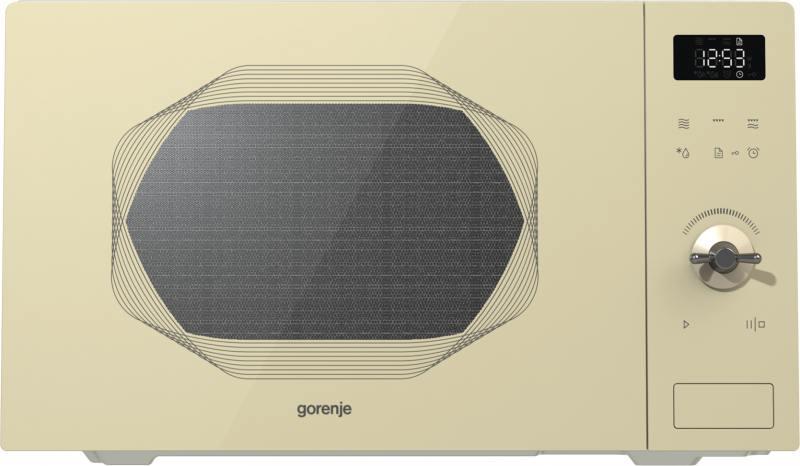 Микроволновая печь Gorenje MO25INI 900 Вт бежевый микроволновая печь gorenje mo23orab 900 вт чёрный