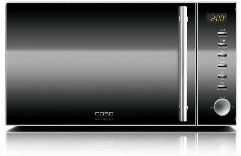 Микроволновая печь CASO MG20 Ceramic Menu 800 Вт чёрный серебристый микроволновая печь caso smg 20 800 вт серебристый