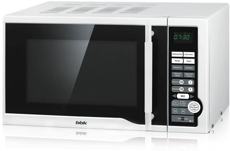 Микроволновая печь BBK 20MWS-770S/W (соло) белый (20 литров, соло, механическое управление, 700 Вт)