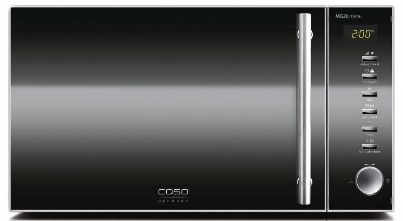 Микроволновая печь CASO MG 20 Menu 800 Вт чёрный микроволновая печь caso mg20 ceramic menu 800 вт чёрный серебристый