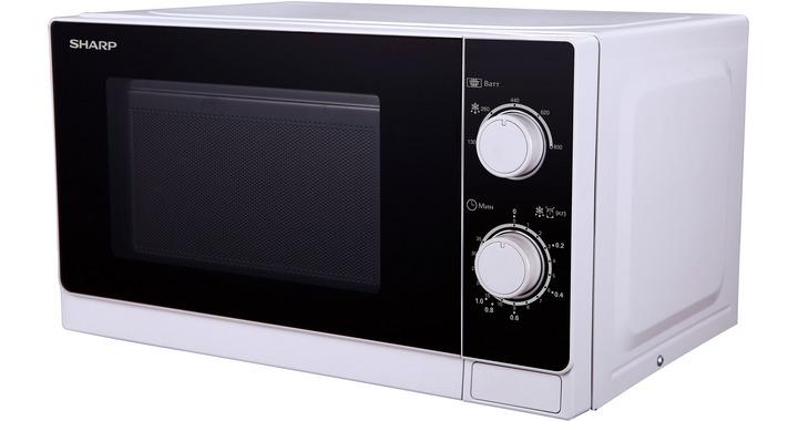 Микроволновая печь Sharp R-2000RW 800 Вт белый черный sharp r 2772rsl