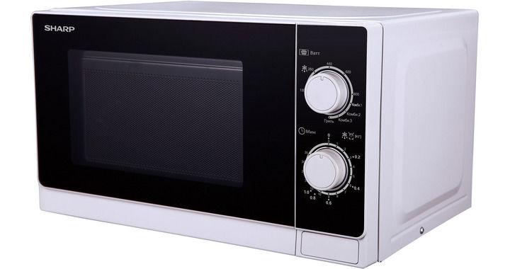 Микроволновая печь Sharp R-6000RW 800 Вт белый черный sharp r 2772rsl