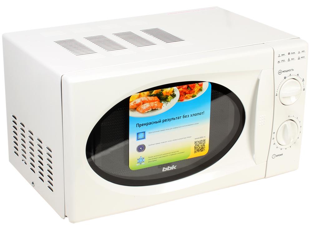 Микроволновая печь BBK 20MWS-715M/W (соло) белый (20 литров, соло, механическое управление, 700 Вт)