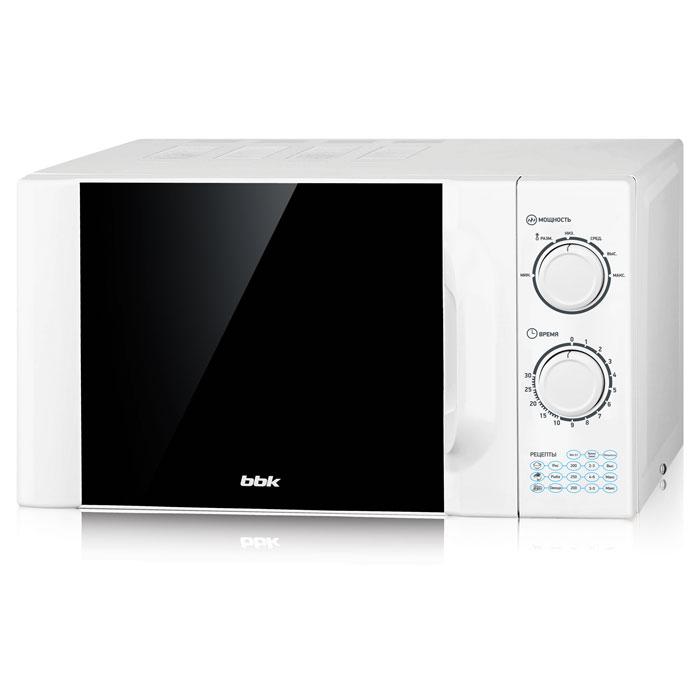 Микроволновая печь BBK 23MWS-927M/W (соло) Белый (23 литра соло, механическое управление, 900 Вт)