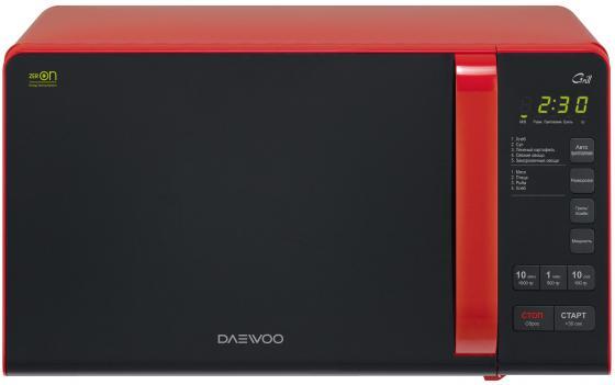 Микроволновая печь DAEWOO KQG-663R 700 Вт чёрно-красный микроволновая печь с грилем daewoo kqg 663b