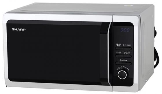 Микроволновая печь Sharp R6852RSL 800 Вт серебристый чёрный микроволновая печь bbk 23mws 927m w 900 вт белый