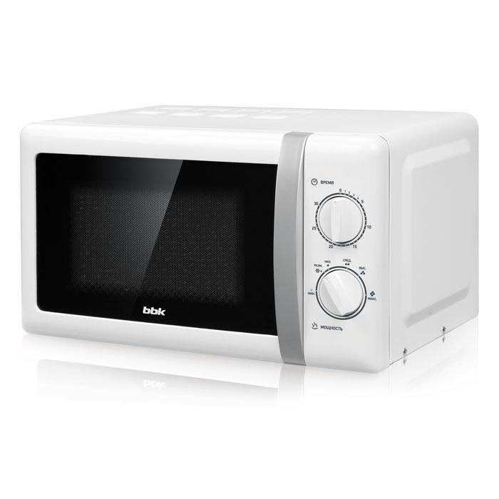 Микроволновая печь BBK 20MWS-804M/WS 800 Вт белый bbk 20mws 712m wb белый черный