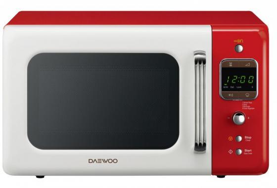 Микроволновая печь DAEWOO KOR-6LBRWR 800 Вт белый/красный свч daewoo kor 6lbrrb 800 вт чёрный красный