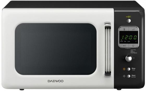 Микроволновая печь DAEWOO KOR-6LBRWB 800 Вт белый чёрный микроволновая печь midea mm820cj7 b3 800 вт чёрный