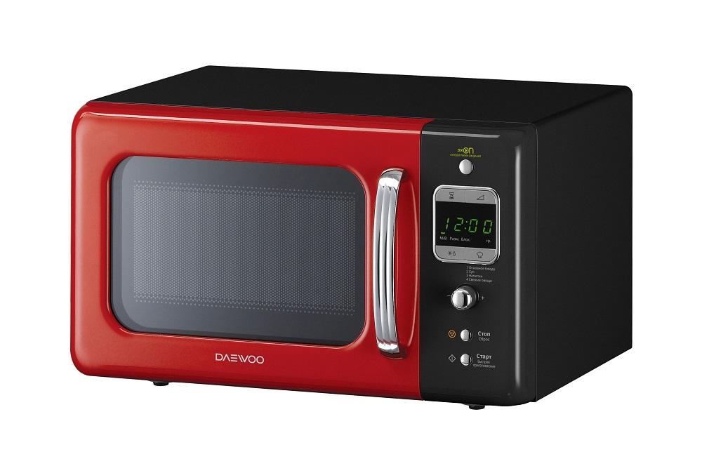 Микроволновая печь DAEWOO KOR-6LBRRB 800 Вт черный красный