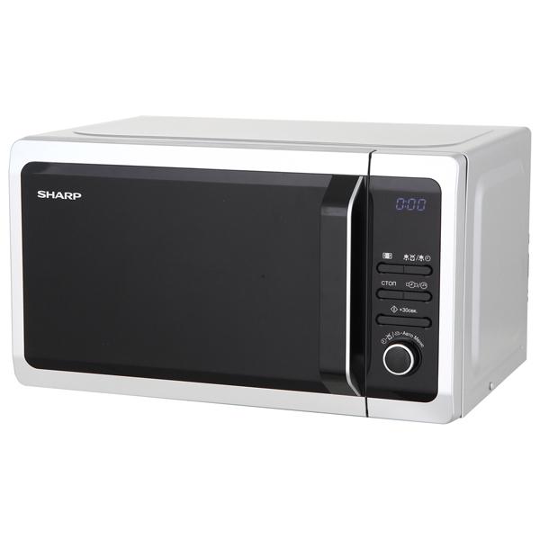 Микроволновая печь Sharp R2852RSL 800 Вт серебристый микроволновая печь lg mh6044v 800 вт серебристый
