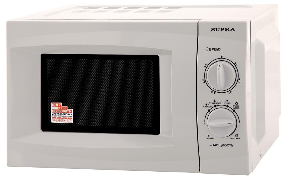 Микроволновая печь Supra 18MS01 700 Вт серебристый