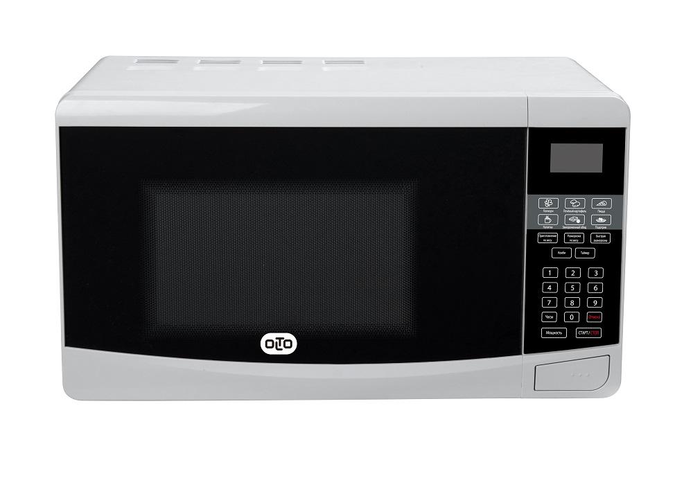 Микроволновая печь OLTO MS-2010D, соло, 20л, эл. управ, 750Вт, белый