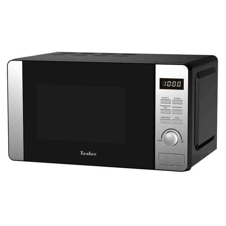 Микроволновая печь TESLER ME-2053, соло, 20л, эл. управ, 700Вт, защита от детей, черный/серебристый