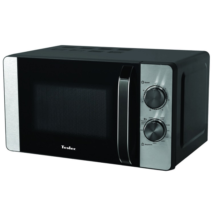Микроволновая печь TESLER MG-2060, гриль, 20л, мех. управ, 700Вт, черный/серебристый