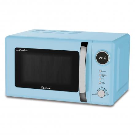 Микроволновая печь TESLER ME-2055 Sky Blue, соло, 20л, мех. управ, 700Вт, голубой печь свч midea mm820cww s соло 20л мех сереб