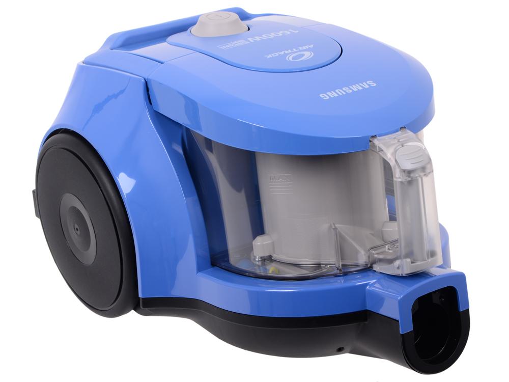 Пылесос Samsung SC4326 мощность: 1600Вт; с контейнером для пыли; мощность всасывания 360Вт, объем пылесборника 1.3л, цвет: синий