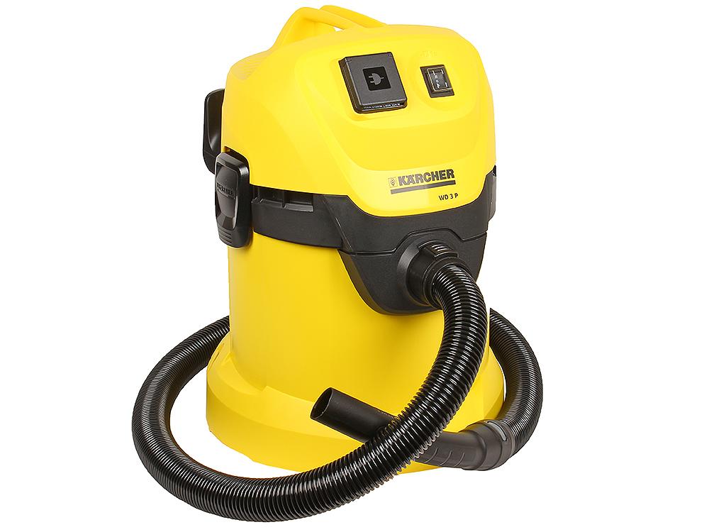 Пылесос Karcher WD 3 P  пылесос karcher wd 3 p 1 629 880 0