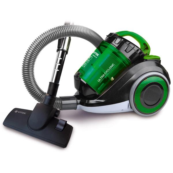 Пылесос VITEK VT-1815 (G) 1600 Вт, мощность всасывания 300 Вт, без потери мощности всасывания, объем 1 vitek vt 1815 g пылесос