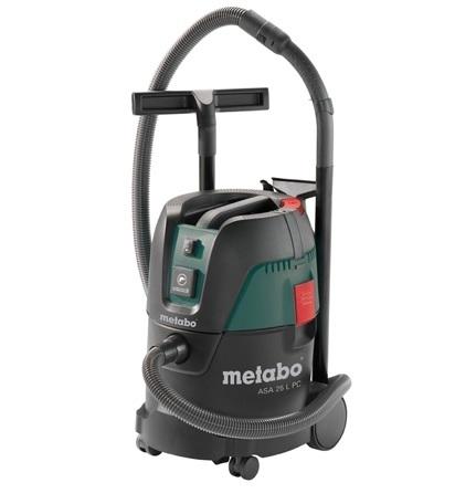 Промышленный пылесос Metabo ASA25LPC 602014000 сухая уборка зелёный чёрный промышленный пылесос dewalt dwv 901 l сухая уборка чёрный жёлтый