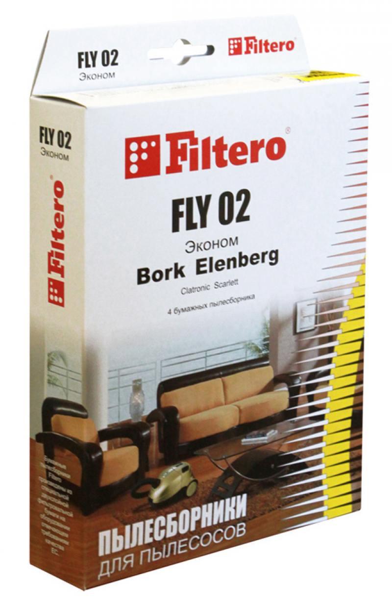 Пылесборник Filtero FLY 02 Эконом 4 шт мягкие игрушки peppa pig мягкая игрушка пеппа с игрушкой 40 см свинка пеппа