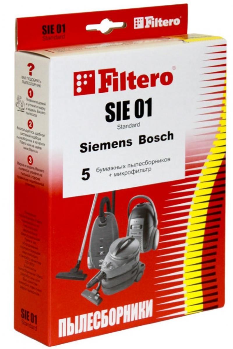 где купить Пылесборник Filtero SIE 01 Standard двухслойные 5шт+фильтр по лучшей цене