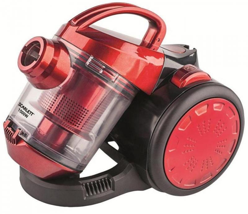 Пылесос Scarlett SC-VC80C01 без мешка сухая уборка 1500Вт красный пылесос scarlett sc vc80b04 1500вт серый красный