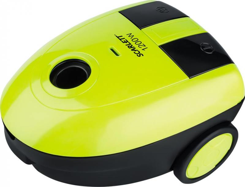 Пылесос Scarlett SC-VC80B06 с мешком сухая уборка 1200Вт желтый/черный ручной пылесос handstick dyson v6 cord free extra sv03 350вт желтый
