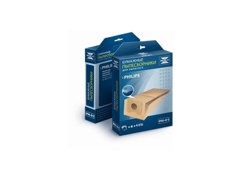 Пылесборник NeoLux PH-01 бумажный 4шт для Philips цены онлайн
