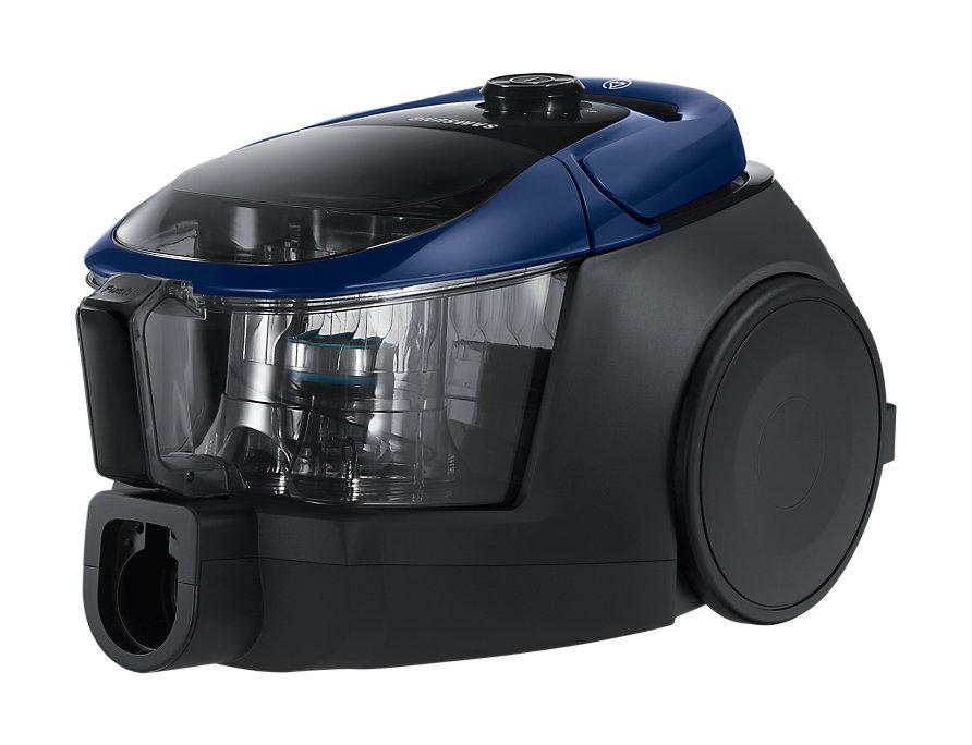 Пылесос Samsung SC18M3120VB без мешка сухая уборка 1800/380Вт синий автомобильный пылесос rolsen rvc 100 без мешка сухая уборка 35вт бело голубой