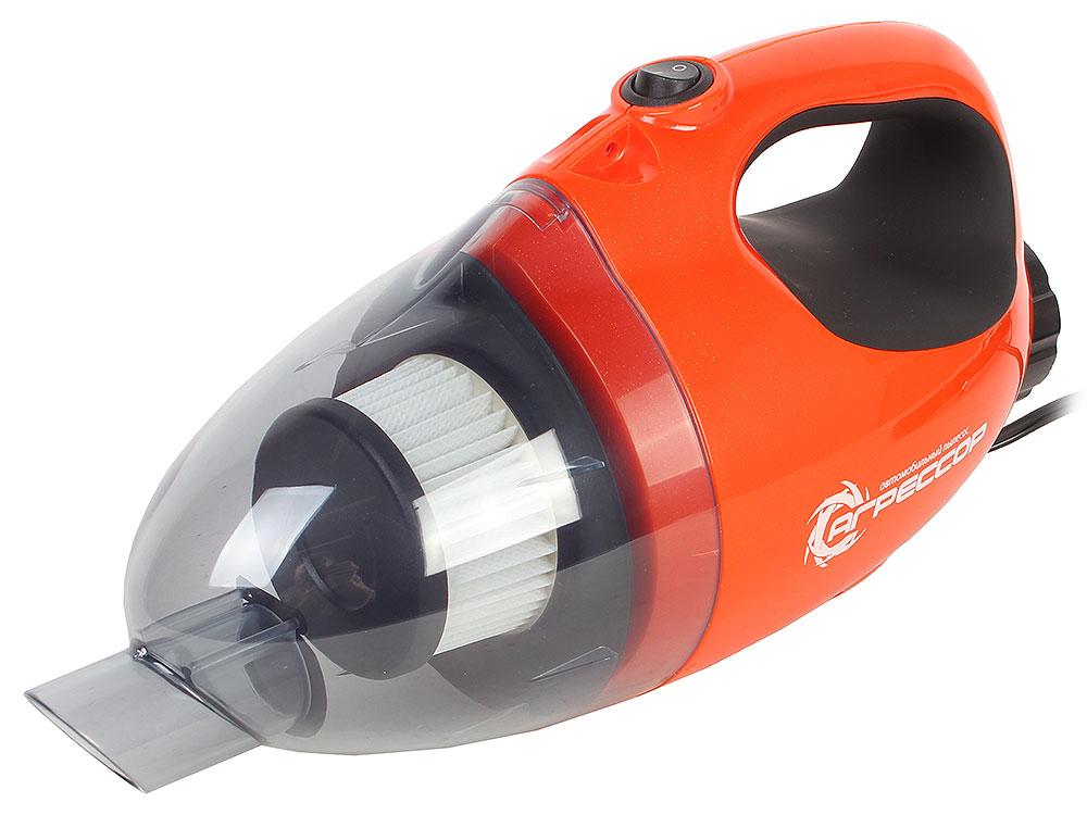 Пылесос автомобильный Агрессор AGR-110H 2in1, 12V, 100W, циклон, фильтр ХЭПА,  функция обдува, 5м. шнур, 8 насадок, сумка, ремешок на плечо., 1/6